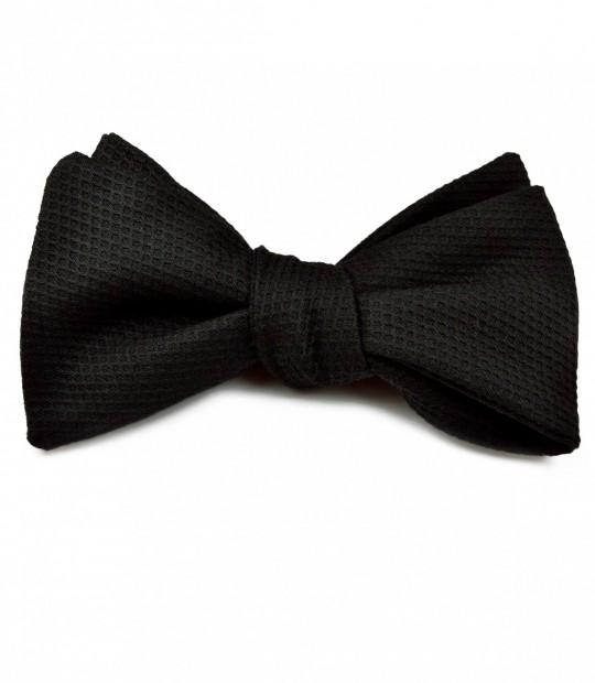 Black Piqué Bow Tie