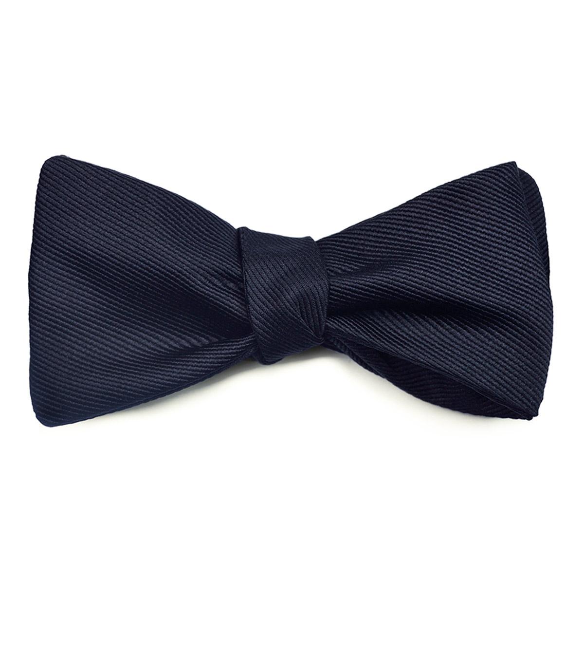 Blue Silk Ottoman Bow Tie