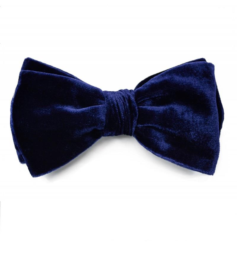 Midnight Blue Velvet Bow Tie