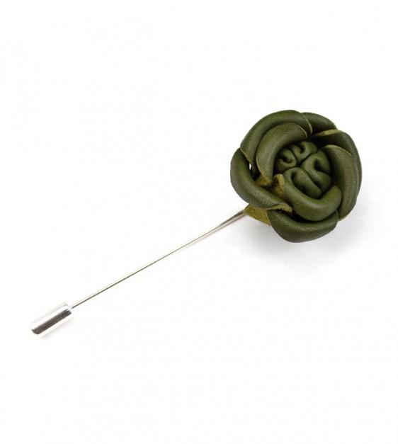 Green Rose Pin