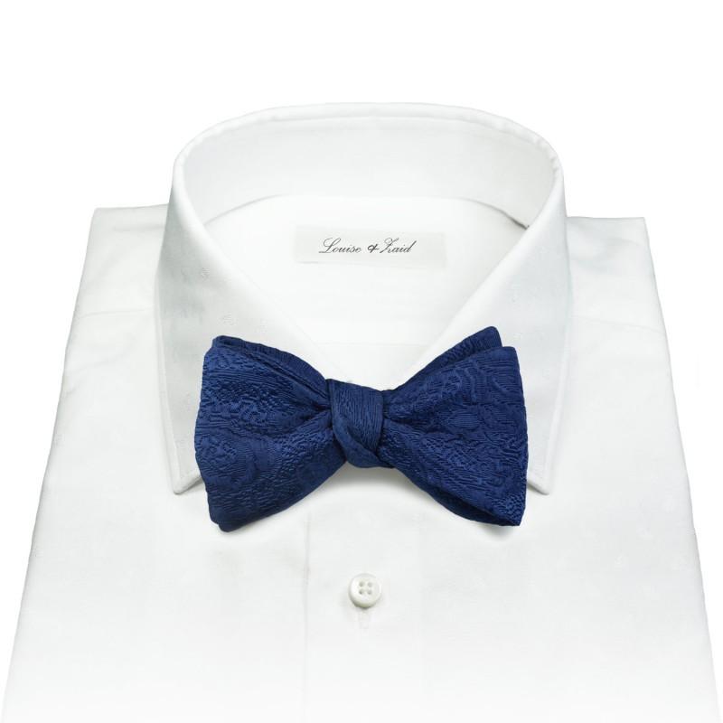 Blue Brocade Bow Tie