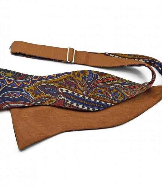 Camel Paisley Bow Tie