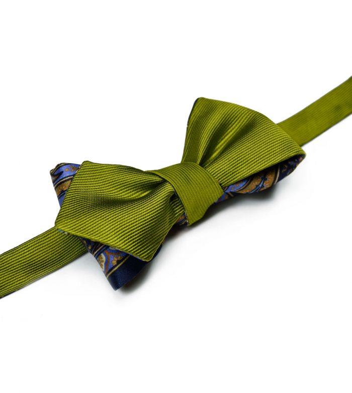 Green & Paisley Bow Tie