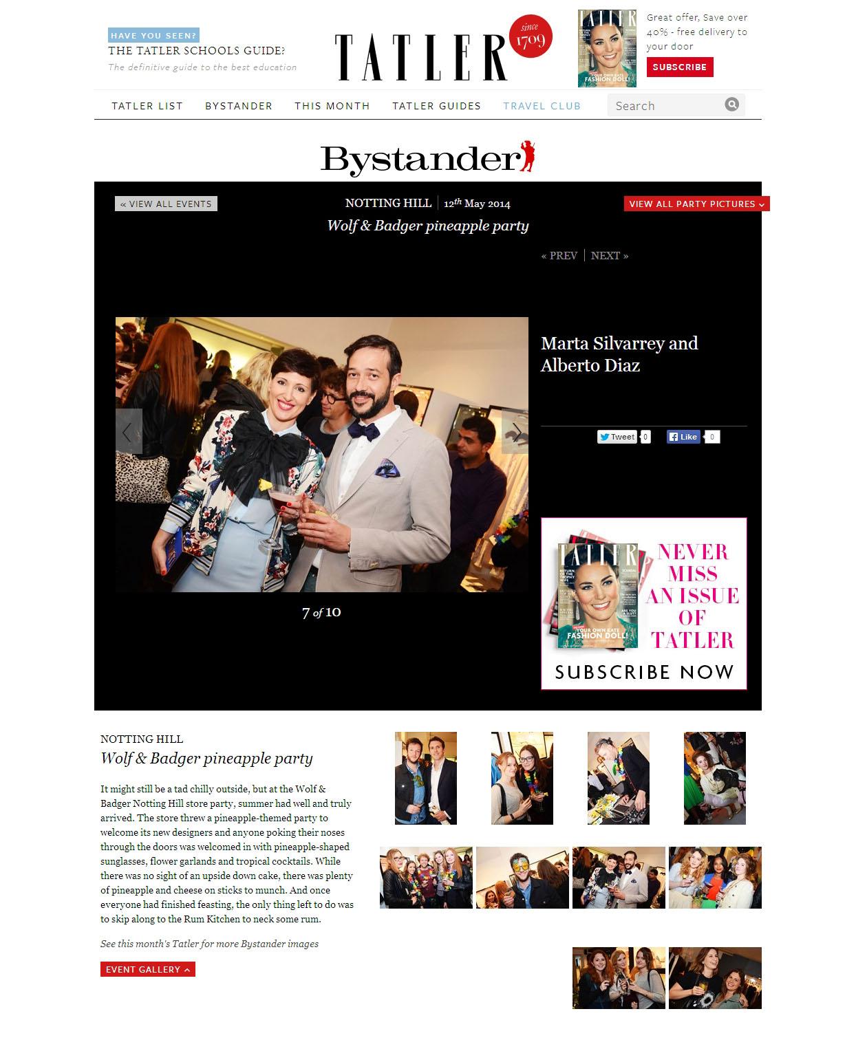 Louise & Zaid London Presentation - September 14 - press publication