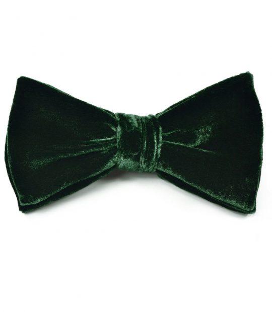 Dark Green Velvet Bow Tie