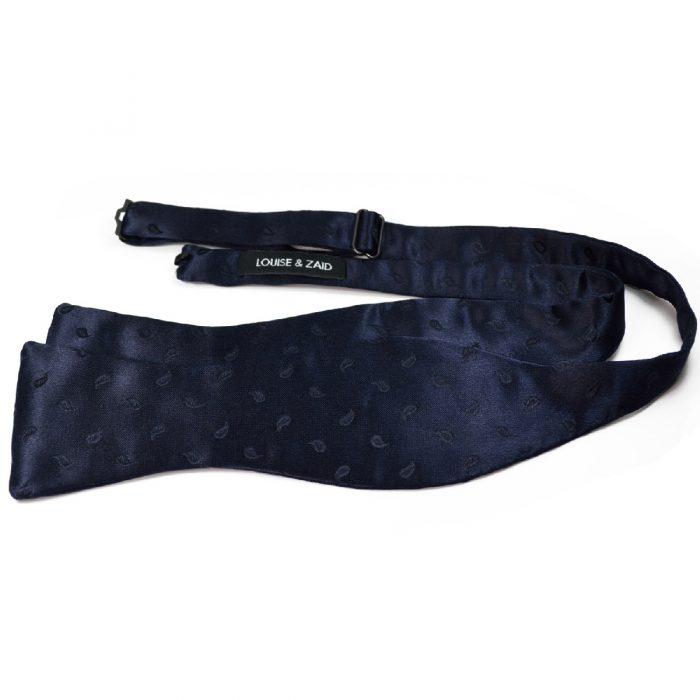 Midnight Blue Silk Bow Tie