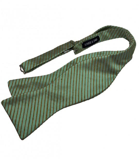 Bluish Green Silk Bow Tie