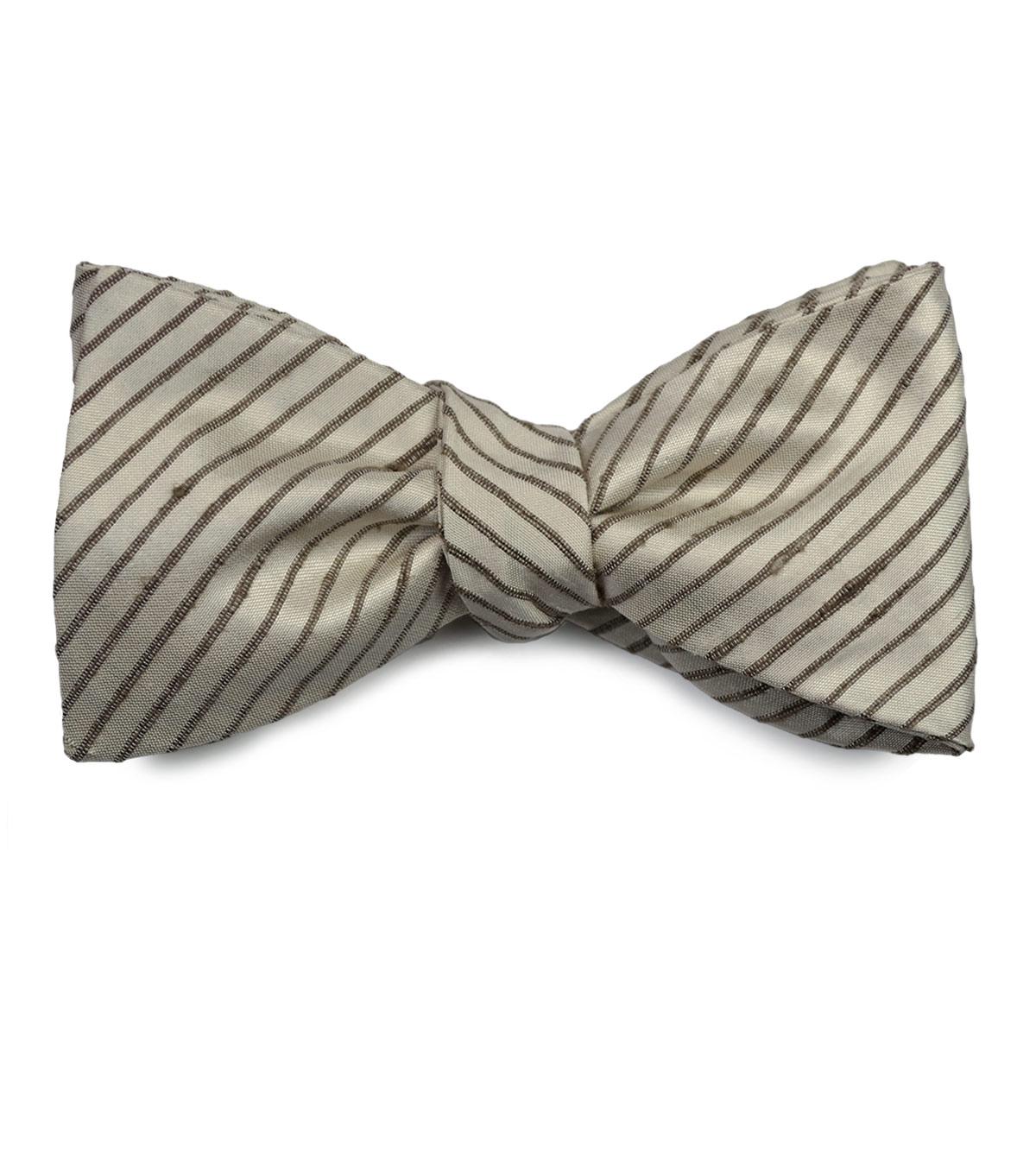 Ivory Silk Bow Tie
