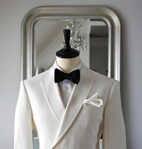 Ivory Jacket black bowtie