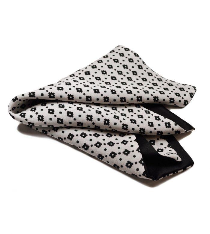 Black & White pocket square