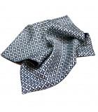Geometric blue silk pocket square