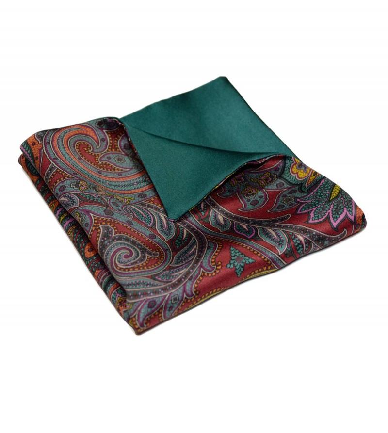 Albai green pocket square