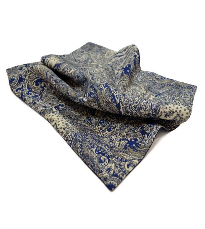Unicorn blue pocket square