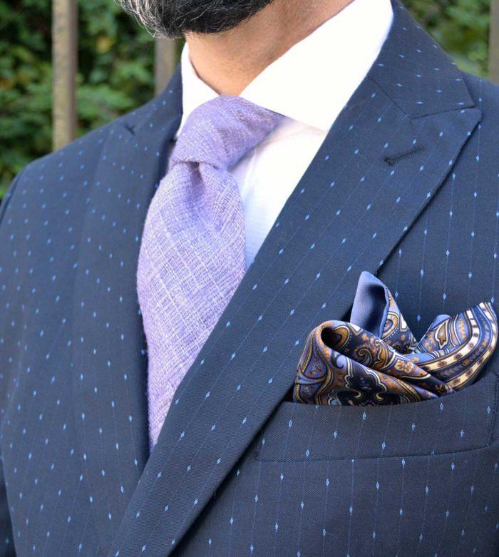 Outfit Lilac slub silk tie