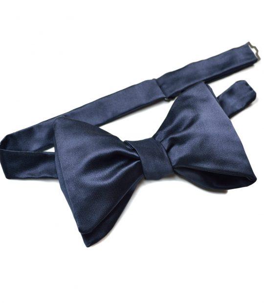 Butterfly blue silk bow tie