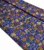 Seven-fold purple paisley tie
